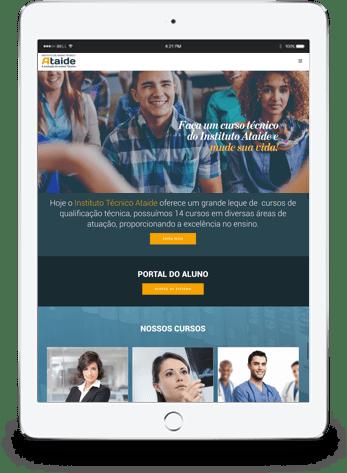 Site responsivo tablet