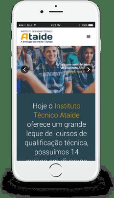 Site responsivo smartphone