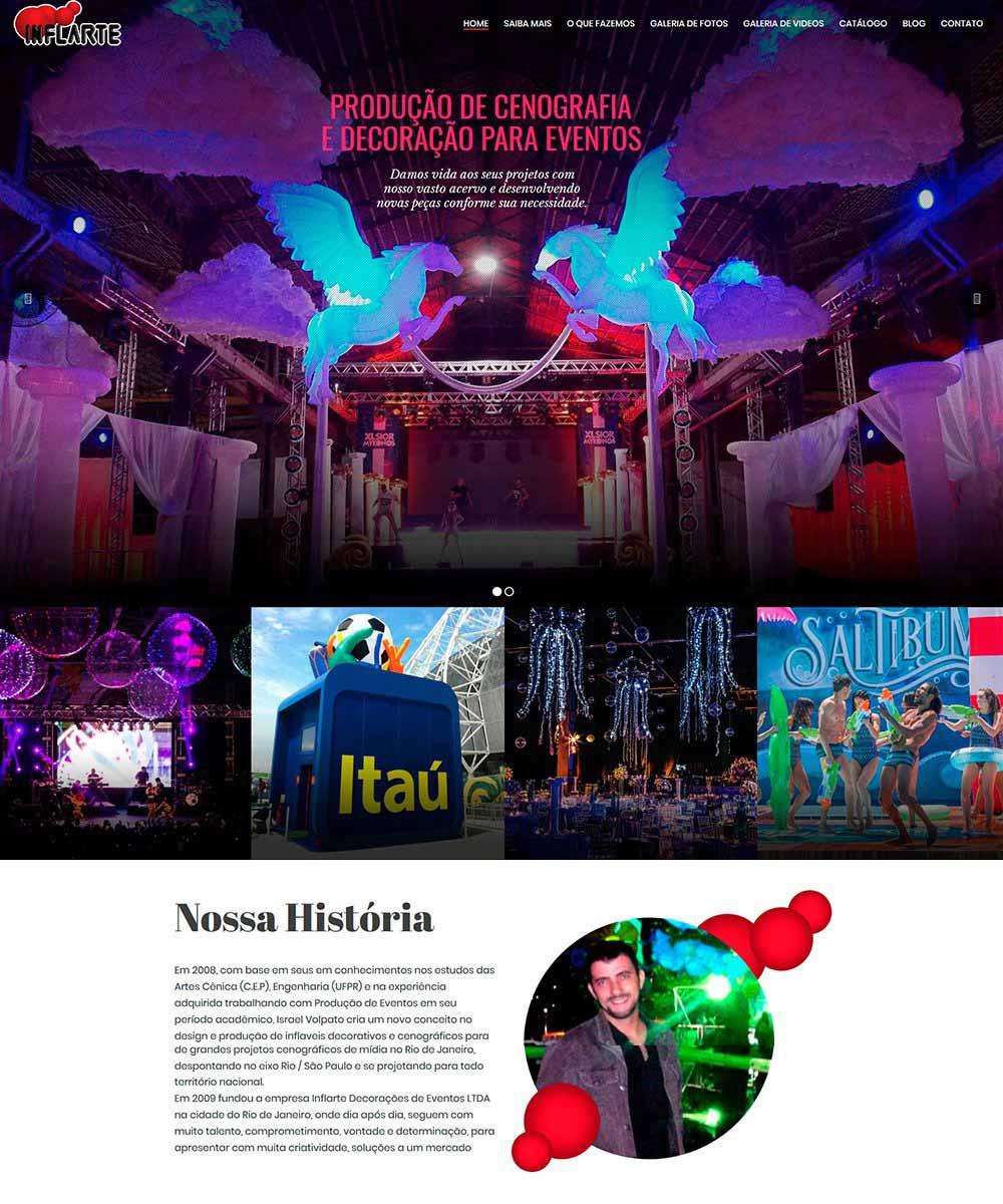 Criação de Sites para Festas e Decorações