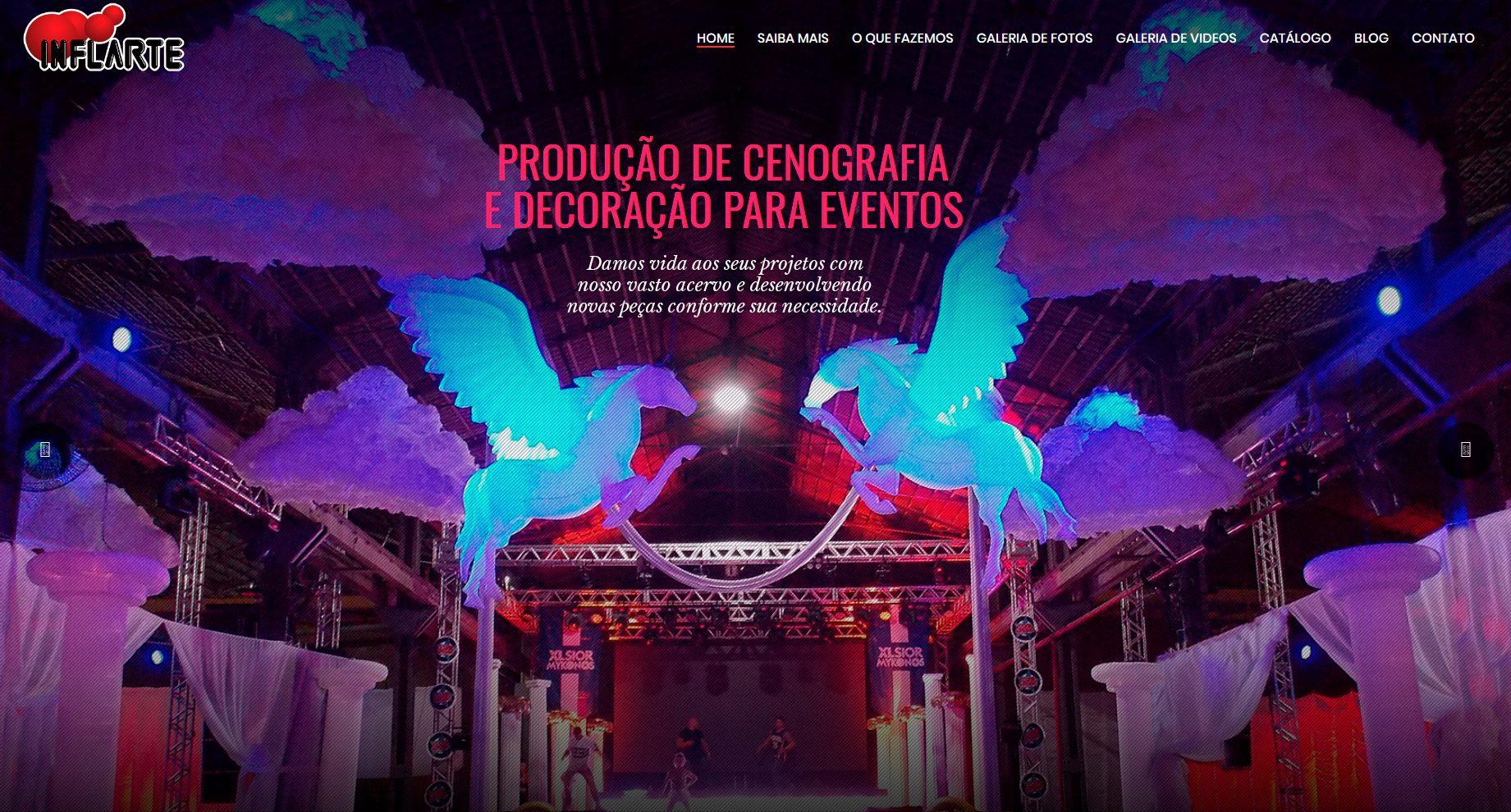 Criação de Sites para Decoração de Eventos