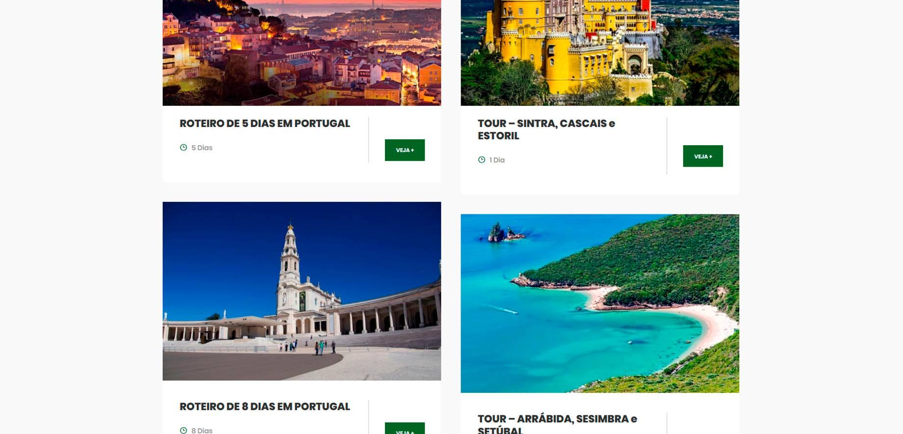 Criação de Sites para Tour Para Portugal