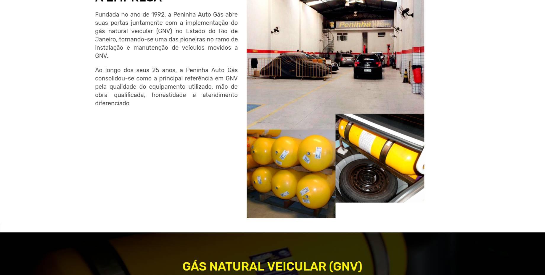 Criação de Sites para gás natural veicular gnv