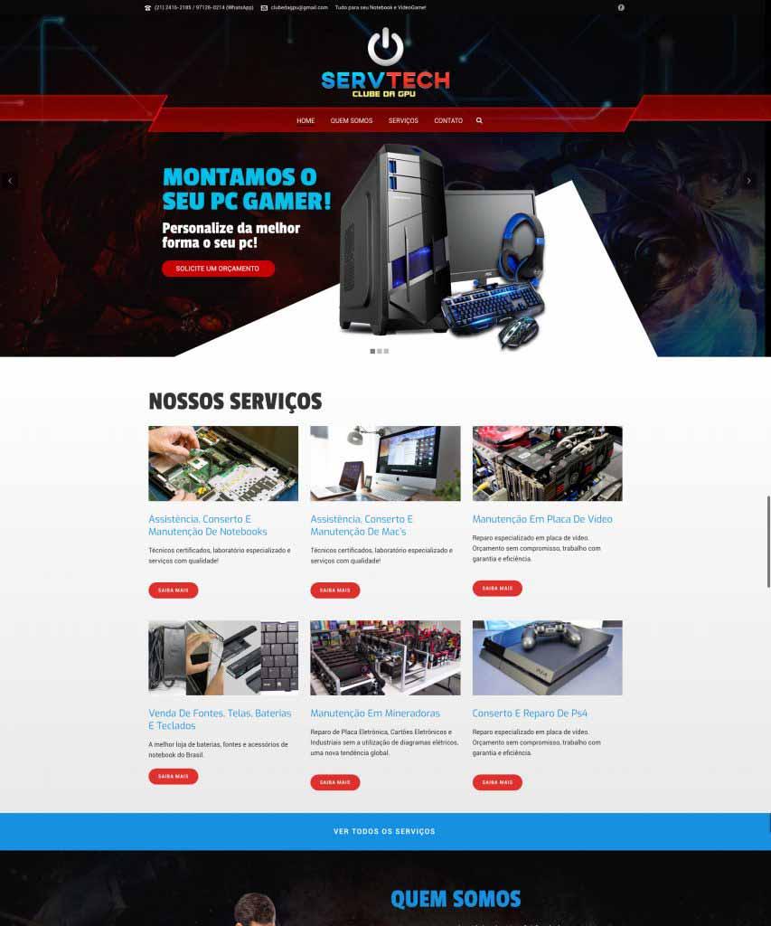 Criação de Sites para Serviços de Informática