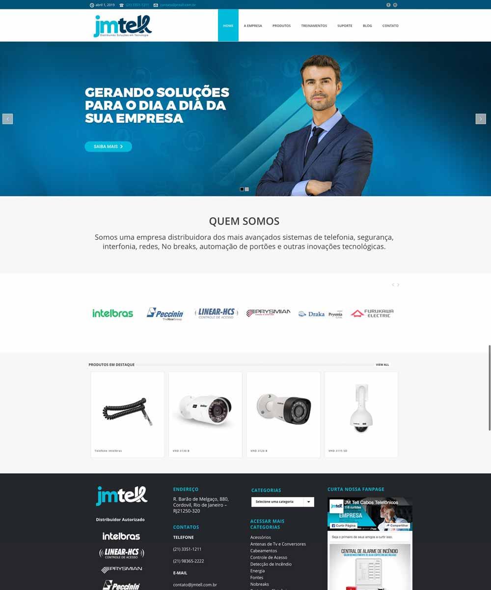 Criação de Sites para Telecom