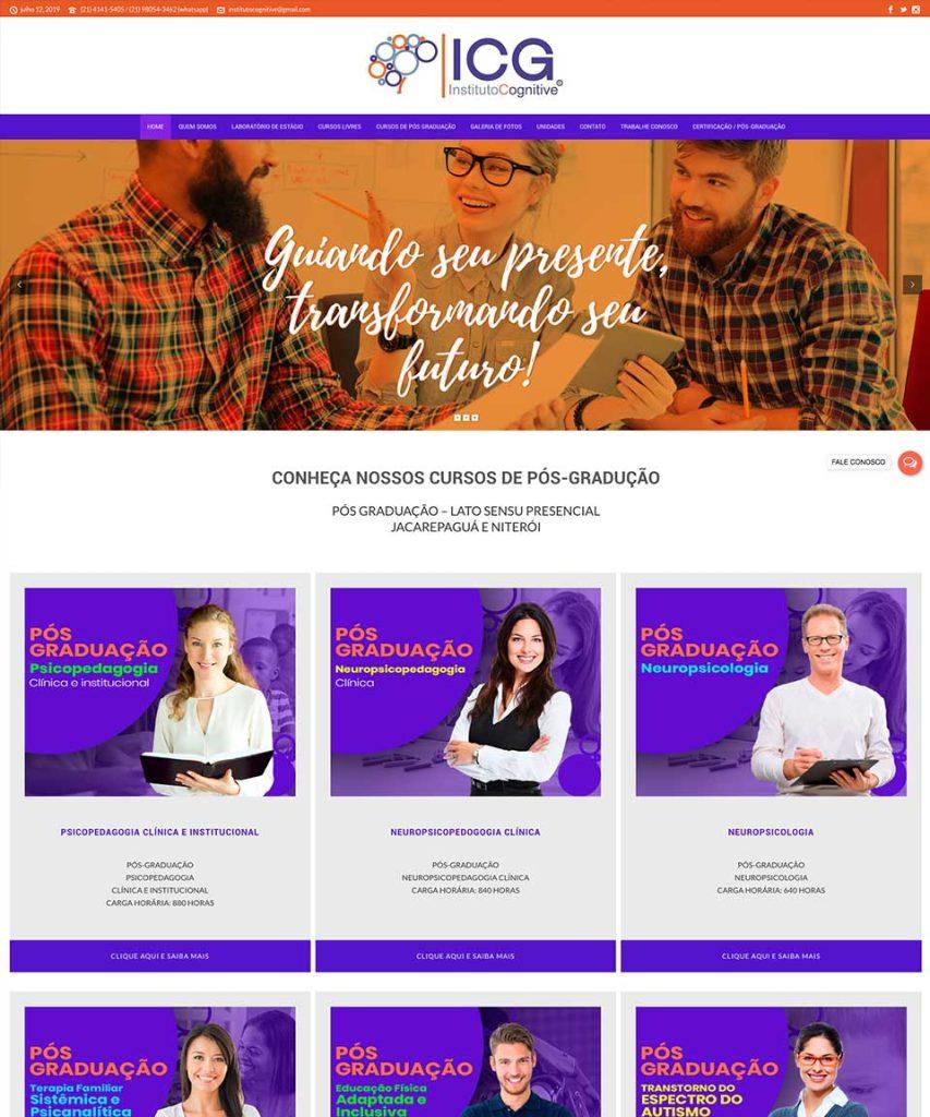 Criação de sites para Cursos Pós Graduação