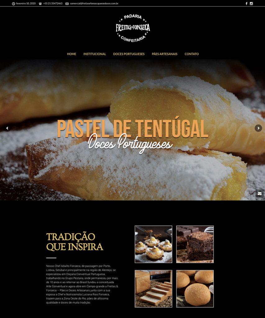 Criação de sites para distribuidores e padarias